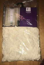 Lush Decor Riley Curtain Sheer Ruffled Textured Bow Window Panel New Ivory