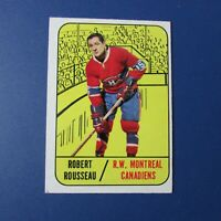 ROBERT ROUSSEAU  1967-68  Topps  # 68  Montreal Canadiens 1968 1967 67-68  EX