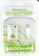Batterie + Câble chargeur USB pour Manette sans fil XBOX 360 - 3600 mah