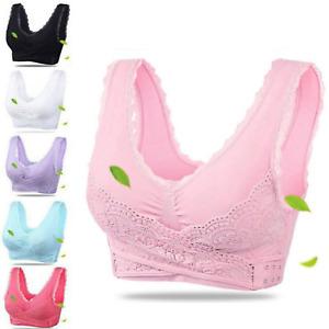 Damen BH Komfort Seamless Nahtlos Bustier Sport Push Up Yoga T-shirt Bra Fitness