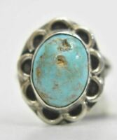 Turquoise Ring Navajo Sterling Silver Size 4