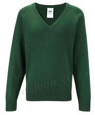 Vêtements verts en acrylique pour garçon de 2 à 16 ans