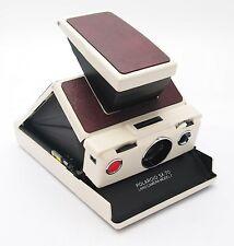 Vintage Polaroid SX-70 Land Camera Model 2 White & Wine Red - UK Dealer