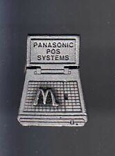 RARE PINS PIN'S .. MC DONALD'S RESTAURANT INFORMATIQUE PANASONIC POS SYSTEMS ~12