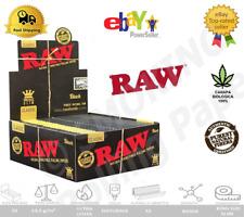 Raw Black Classic Naturale King Size Slim Nero Lunghe Cartine Astucci