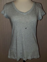 Women's Joe Boxer Lt. Gray Short Sleeve Soft Stretch V-Neck T-Shirt Top Sz Small