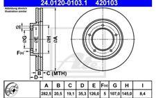 ATE Juego de 2 discos freno 282,5mm ventilado Para PORSCHE 24.0120-0103.1