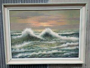 Henk Guth MAJOR WORK rare ocean landscape FREE postage -