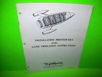 Gottlieb ORBIT Original Arcade Pinball Machine Service Instruction Manual 1971