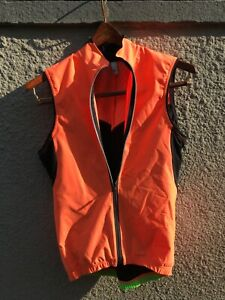 q36.5 Cycling essential vest men's small in high vis orange Made in Italy VGUC