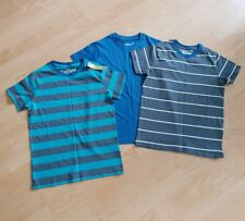 Boys Age 9-10 Years Pack Of 3 Demo Stripey T-shirts