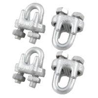 Serre-cables en metal avec etriers en U, 1/5-pouces, 4 pieces W1Q5 XH