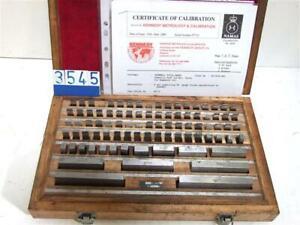 Kennedy 88 Piece (A) Grade Slip Gauges In Wooden Box (3545)