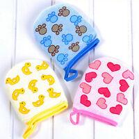 Baby Infant Cartoon Soft Glove Foam Rub Sponge Exfoliating Bath Towel Shower n