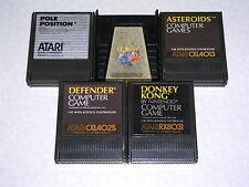 Defender, Donkey Kong, Q-bert, Pole Position, Asteroids - Atari 400/800/XL/XE