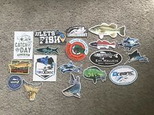 18 Fish Fishing Stickers #18C Marsh Grundens Lunkerhunt Fathom Hook And Tackle