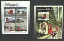 ST2607 2013 MOZAMBIQUE TRANSPORT TRAINS LONDON METRO UNDERGROUND KB+BL MNH
