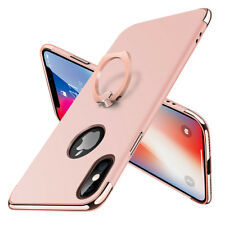 iPhone X 8 7 Plus 6s Case Hybrid 360° Rotating Metal Ring Holder Kickstand Cover for iPhone 6 Plus Rose Gold