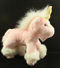 Very Cute Russ Berrie  Plush Collectable Toy ~ Pink Unicorn