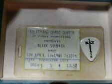 Black Sabbath 1986 Concert Tony Iommi Guitar Pick & Ticket