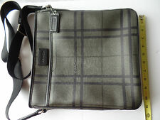 Brand New COACH F71061 Tattersall PVC Tech Messenger/Crossbody