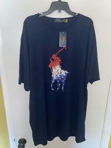 New w/Tags Polo Ralph Lauren Navy Blue 3XLT 3XT Tall T-Shirt