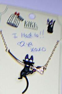 ANNE KLEIN EARRINGS & MASK NEW & KIKI'S, CAT ON BROOM NECK NEW ON CARD