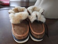 real genuine leather sheepskin children shoes boots boy girl UK size 8 9 10 11