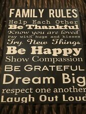 Family Rules Wooden Plaque, House Rules Sign, Gift for Friends, Keepsake