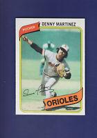 Denny Martinez 1980 TOPPS Baseball #10 (MINT) Baltimore Orioles