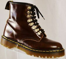 DR. MARTENS Mens Brown Leather 8 Eyelet AirWair Boots Size US 8/ UK 7 ENGLAND