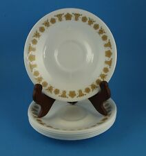 "Lot of 6 Corelle Butterfly Gold 6.25"" Saucers"