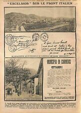 Bataille de Caporetto Battle of Karfreit battaglia dell'Isonzo  Italia WWI 1915