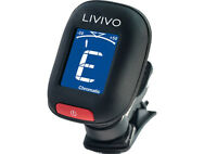 LIVIVO LCD CLIP ON ACOUSTIC CHROMATIC ELECTRIC GUITAR BASS BANJO UKULELE TUNER