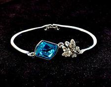 Imitation Platinum Plated with Rhinestone Little butterfly Rock bangle bracelet