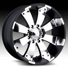 22x10 Eagle Alloys 064 Black/Polished 8x6.5 8x165.1 bolt pattern +1 mm offset