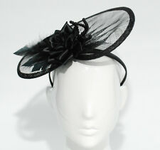 Beautiful Fascinator HAND MADE- Hat Race Black for Racing, Wedding and Events