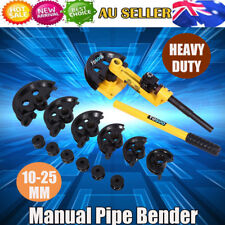 10-25mm Manual Bench Mounted Pipe Tube Bender Metal Steel Copper Heavy Duty