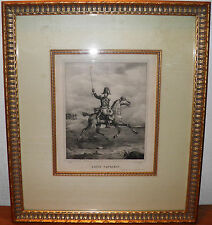 "Original Steel Engraving Louis Napolean signed Victor 14x17"" Museum Framed -$40"