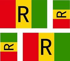 4 x adesivo adesivi sticker bandera moto auto bandiere vinyl ruanda antico