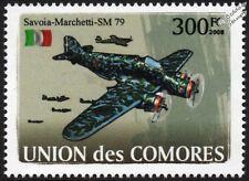 WWII Savoia-Marchetti SM.79 Sparviero (EPERVIER) Bomber Avion Timbre