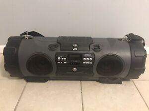 JVC RV-NB1 CD And Tape PlayerStereo Boom Box - Missing Volume Knobs Tested