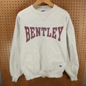 vtg 90s usa made Russell Pro cotton sweatshirt XL Bentley college reverse weave