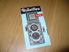 FOTOGRAFIA BROCHURE ROLLEIFLEX 4 X 4 FRANKE & HEIDECKE BRAUNSCHWEIG ISTRUZIONI