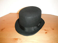 BROOKLYN hat CO  WOOL crushable topper TOP HAT size LARGE black FUNKY STEAMPUNK