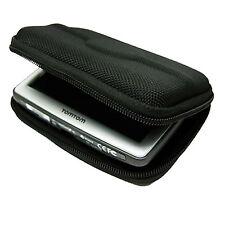 """Black Hard Travel Carry Case for TomTom Go 820 Live Universal 4.3"""" Sat Nav"""