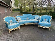 French Louis XVI Hand Carved Solid Wooden Living Room Set - 3 Pieces