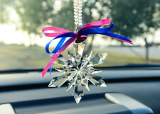 2018 New Crystal Clear Snowflake ornament Charm Pendant  Party Window Decor