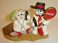 """Vintage 1998 Coca-Cola Polar Bear Cubs """"You Bring Out the Best in Me"""" Figurine"""