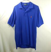 Ralph Lauren Polo Mens Short Sleeve Blue Golf Dress Shirt Size MEDIUM M